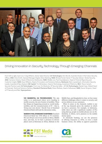 Driving Innovation in Security Technology Through ... - FST Media