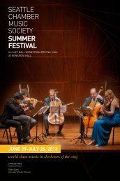2013 Summer Festival - Seattle Chamber Music Society