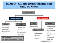 (ALMOST) ALL THE BACTERIOLOGY YOU NEED TO KNOW