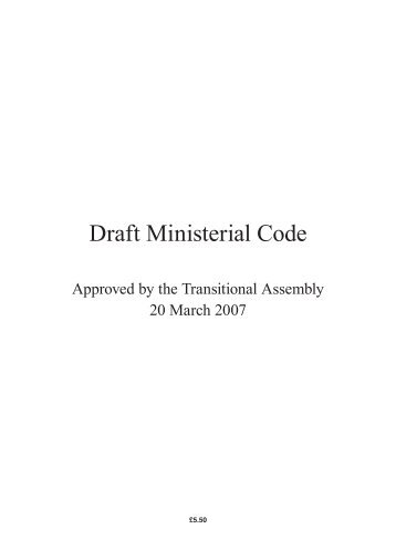 Draft Ministerial Code - the Northern Ireland Assembly Archive