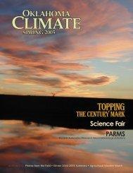 Oklahoma Climate Spring 2005.indd - Oklahoma Climatological ...