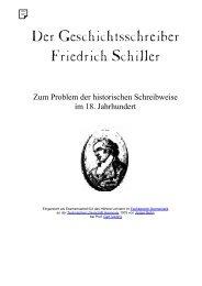 Der Geschichtsschreiber Friedrich Schiller - BEHN