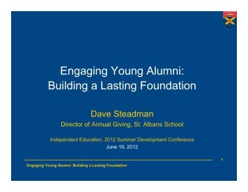 Engaging Young Alumni: Building a Lasting Foundation