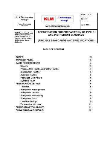 Piping And Instrumentation Diagram Documentation Criteria