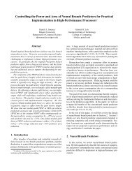 Controlling the Power and Area of Neural Branch Predictors for ...