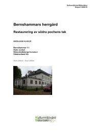 Bernshammars herrgård - KMMD