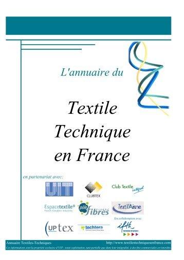 Textile Technique en France - Technical Textiles in France