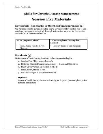 Session Five Materials - National Center for the Study of Adult ...