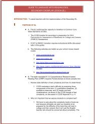 el - Division of Language Arts/Reading