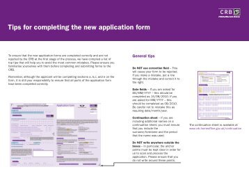 Top Tips for completion of application form