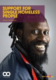 Support for Single Homeless People