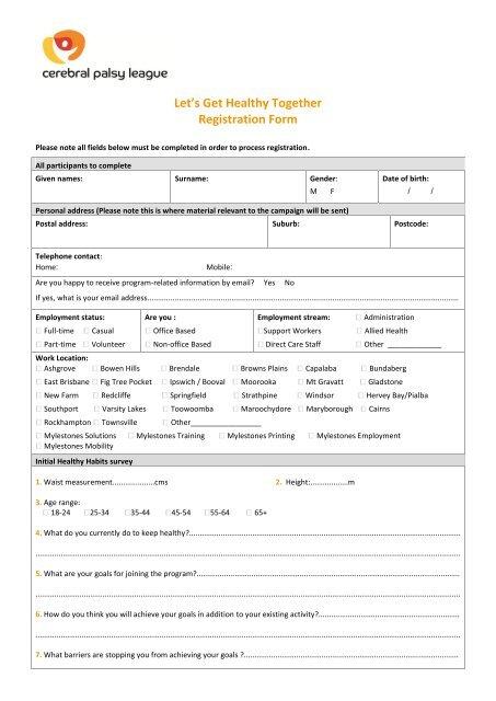 CPL registration form