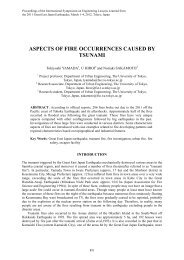 Aspects of Fire Occurrences Caused by Tsunami