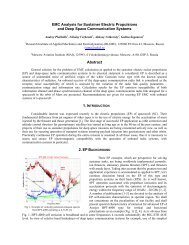EMC Analysis for Sustainer Electric Propulsions and Deep ... - URSI