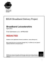 BDUK Broadband Delivery Project Broadband Leicestershire ...