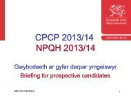 Cyflwyniad Briffio CPCP - Learning Wales