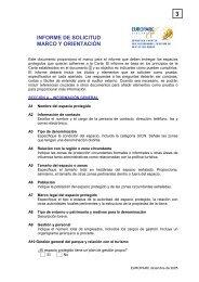 INFORME DE SOLICITUD MARCO Y ORIENTACIÓN