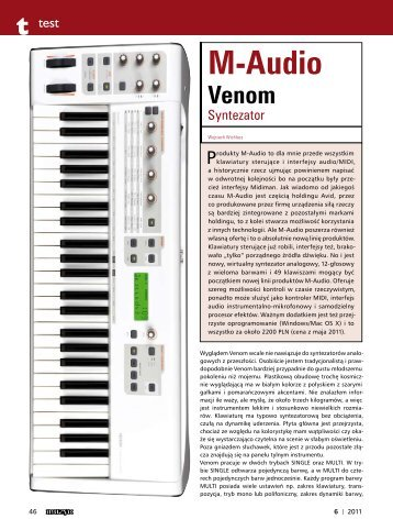 AVID M-Audio VENOM - Music Info