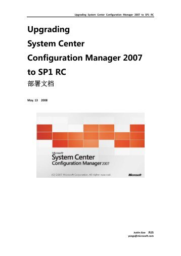 Upgrading System Center Configuration Manager ... - TechNet Blogs