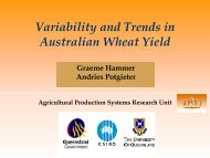 Variability and Trends in Australian Wheat Yield
