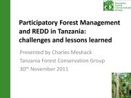 Participatory forest management in Tanzania - The REDD Desk