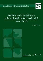Análisis de la legislación sobre planificación territorial en el Perú