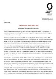 PRESS RELEASE - Scottish Opera
