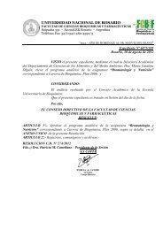Facultad de Ciencias Bioquímicas y Farmacéuticas - UNR ...