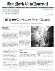Article - Airspace Conveyance Policy Changes ... - Phillips Nizer LLP