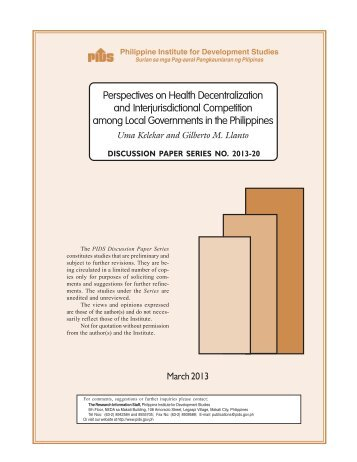 Perspectives on Health Decentralization and Interjurisdictional ...