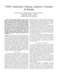 CTCP: Analisando a Entrega, Latência e Consumo de ... - GTA - UFRJ