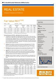 REAL ESTATE - Fair Value REIT-AG