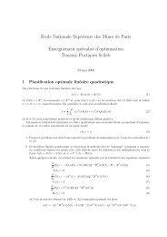 ´Ecole Nationale Supérieure des Mines de Paris Enseignement ...
