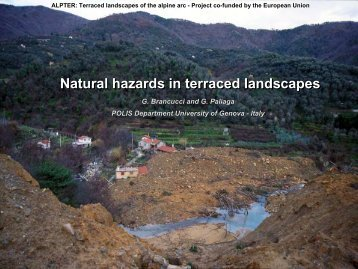 Natural hazards in terraced landscapes - Project ALPTER