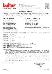 BALTUR caldaie GENIO TECNIC - Certificazione energetica edifici