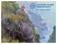 2011 ANNUAL REPORT - Catalina Island Conservancy