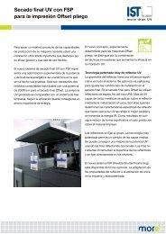 Secado final UV con FSP para la impresión offset sobre ... - IST METZ
