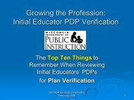 PDP Verification - Teacher Education, Professional Development ...