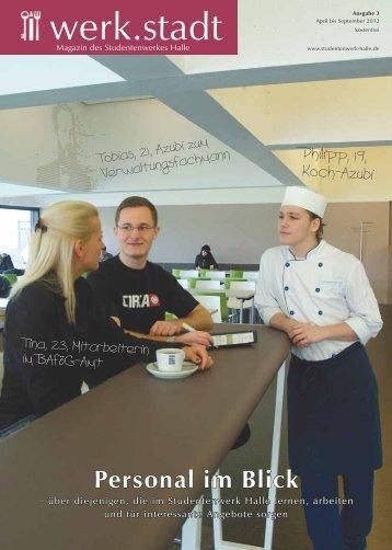 Studentenwerk Halle Magazin werk stadt 1-2012 (pdf