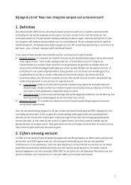 Bijlage brief schoolverzuim - Aanval op schooluitval