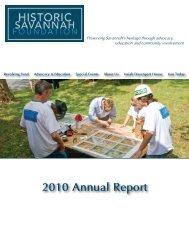 2010 Annual Report - Historic Savannah Foundation