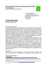 Jahresbericht 2008 - Evangelische Krankenhausseelsorge in ...