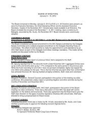 American Kennel Club - January 2012 AKC Board Meeting Minutes