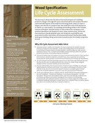 life Cycle assessment - Naturally:wood