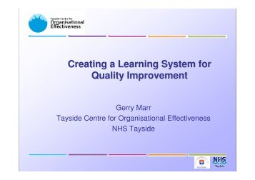Creating a Learning System for Quality Improvement - Sikker Patient