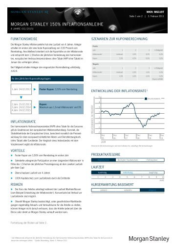MORGAN STANLEy 150% INFLATIONSANLEIHE - FONDS ...