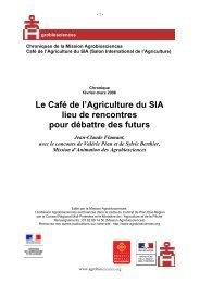 Le Café de l'Agriculture du SIA lieu de rencontres pour débattre des ...