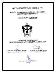 Modificación de la Conducta Alimentaria - Centro Universitario de ...