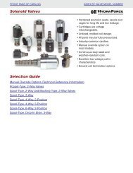 Solenoid Valves HYDRAFORCE