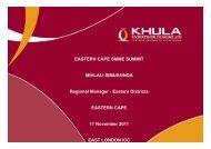 Khula Corp Presentation 2011.pdf - Eastern Cape Development ...